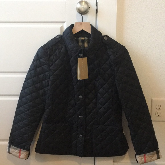 Burberry Jackets & Blazers - NWT Burberry Kencott Quilted Jacket Black Small